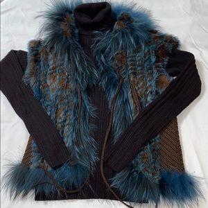 Dana Stein Fur Sweater Vest (Real Fur) S